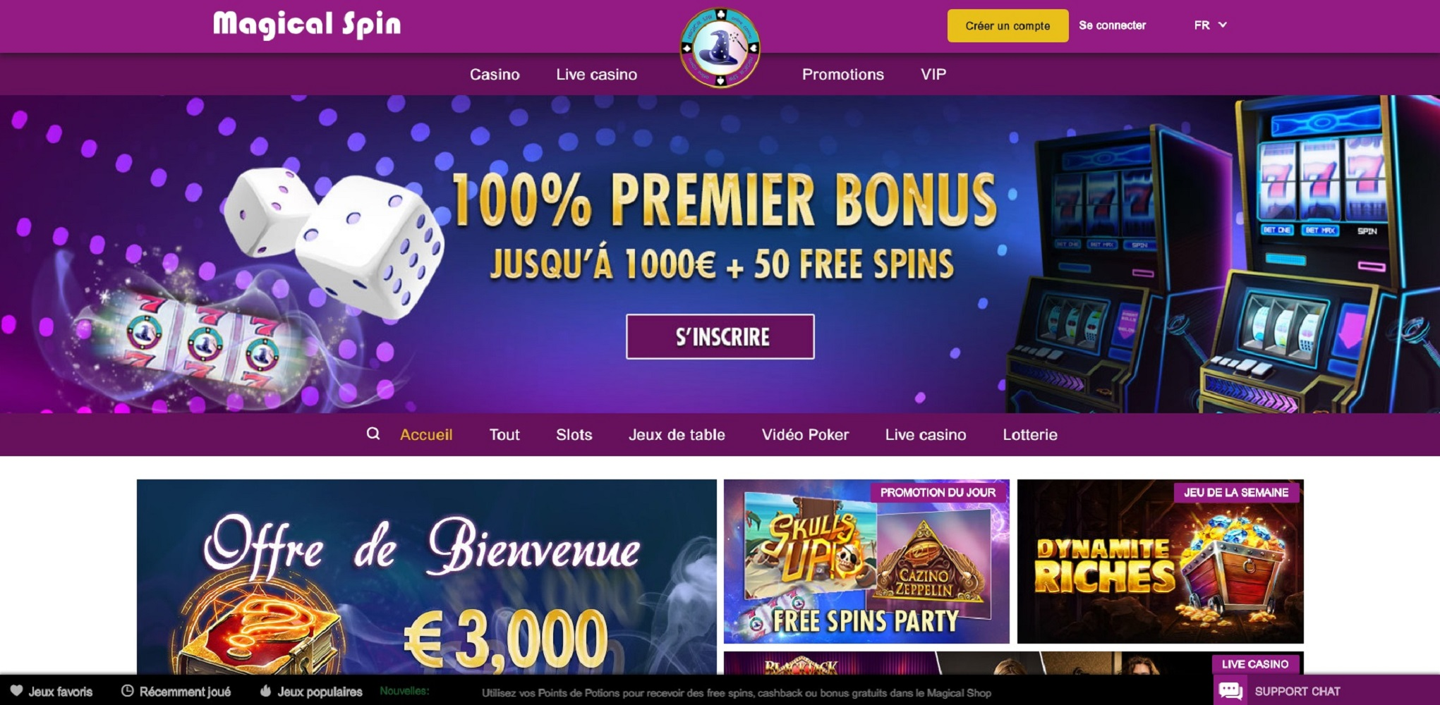 Avis pour comprendre l'univers du Casino Magical Spin